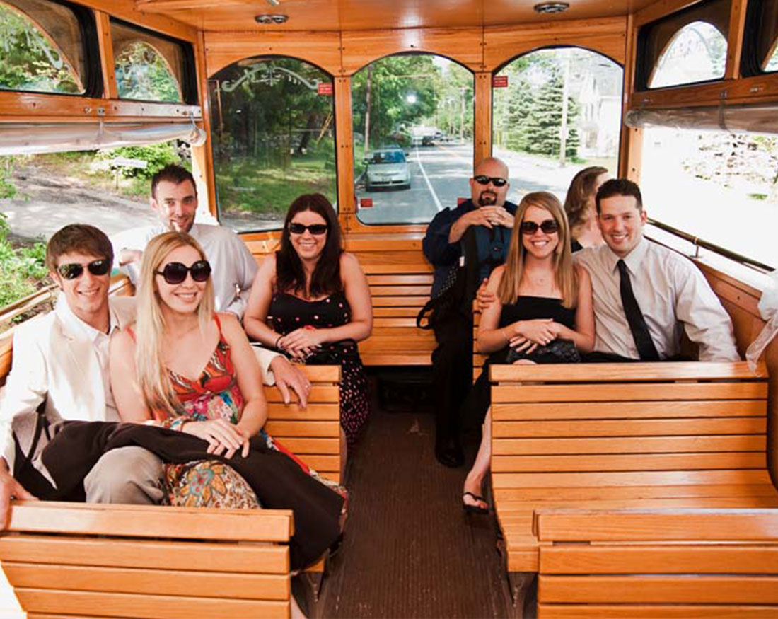 Charter Bus Rental Maine, trolley